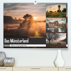 Das Münsterland - Meine Impressionen (Premium, hochwertiger DIN A2 Wandkalender 2022, Kunstdruck in Hochglanz)