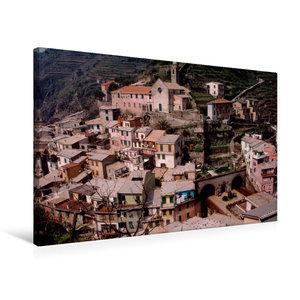 Premium Textil-Leinwand 75 cm x 50 cm quer Cinque Terre K?stenstadt Vernazza, Italien