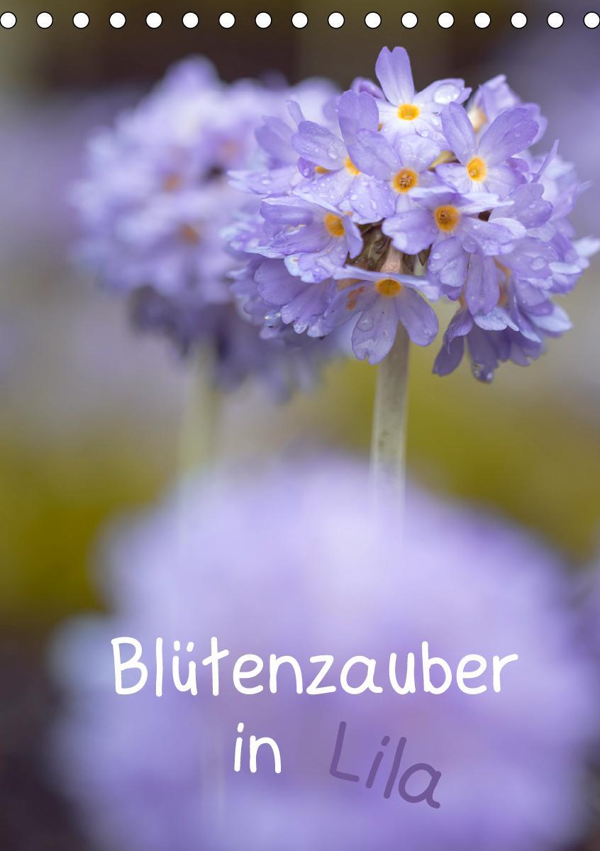 Blütenzauber in Lila (Tischkalender 2021 DIN A5 hoch)