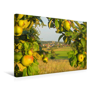 Premium Textil-Leinwand 45 cm x 30 cm quer Blick auf Bad Homburg-Kirdorf mit St. Johannes