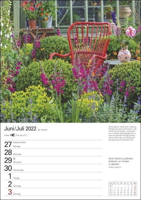 Gartenparadiese Kalender 2022