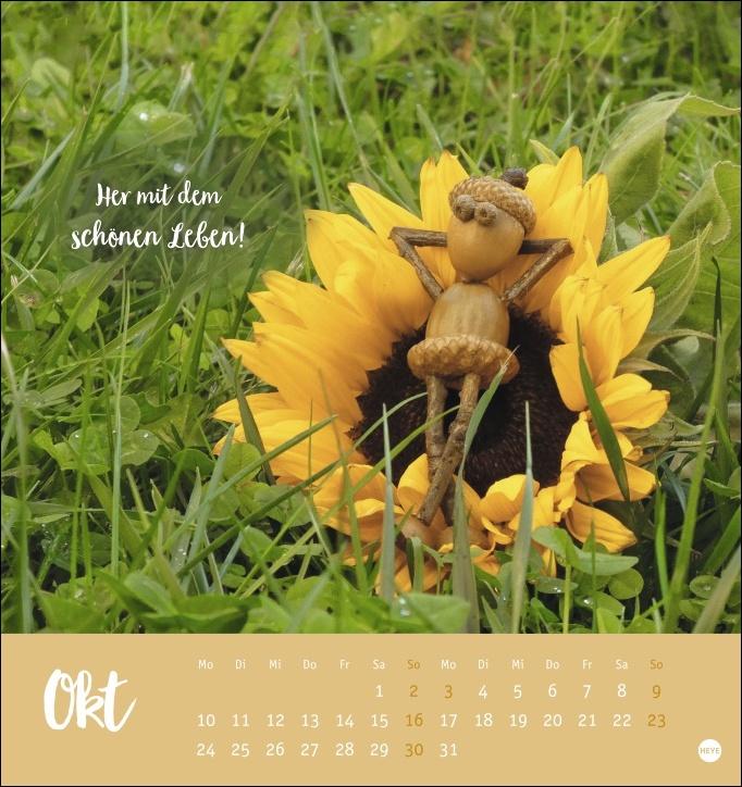 Eichelmännchen Postkartenkalender 2022