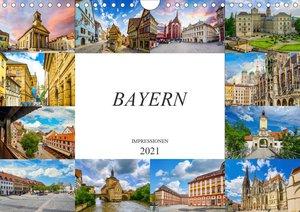 Bayern Impressionen (Wandkalender 2021 DIN A4 quer)