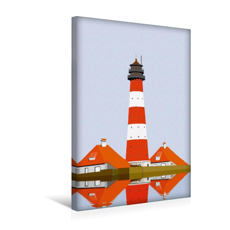 Premium Textil-Leinwand 30 cm x 45 cm hoch Leuchtturm Westerheve