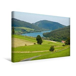 Premium Textil-Leinwand 45 cm x 30 cm quer Diemelsee