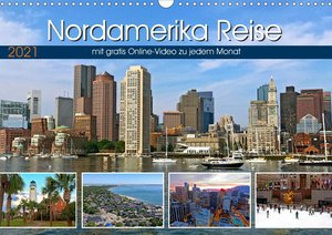 Reisekalender Nordamerika (Wandkalender 2021 DIN A3 quer)