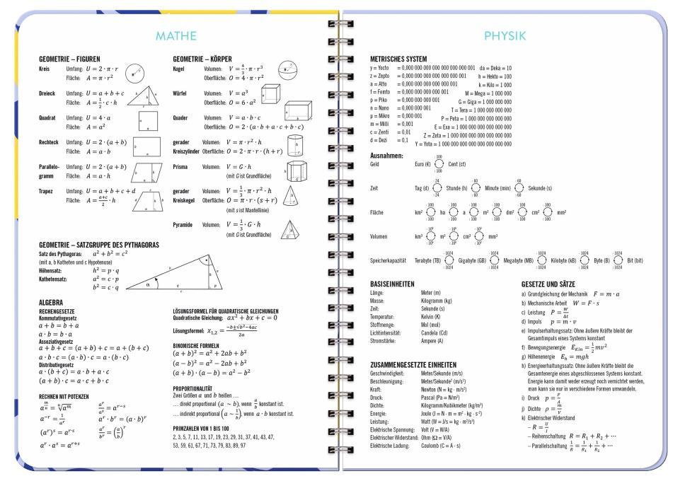 Zitrone Schüler-/Studentenkalender A5  - 2022