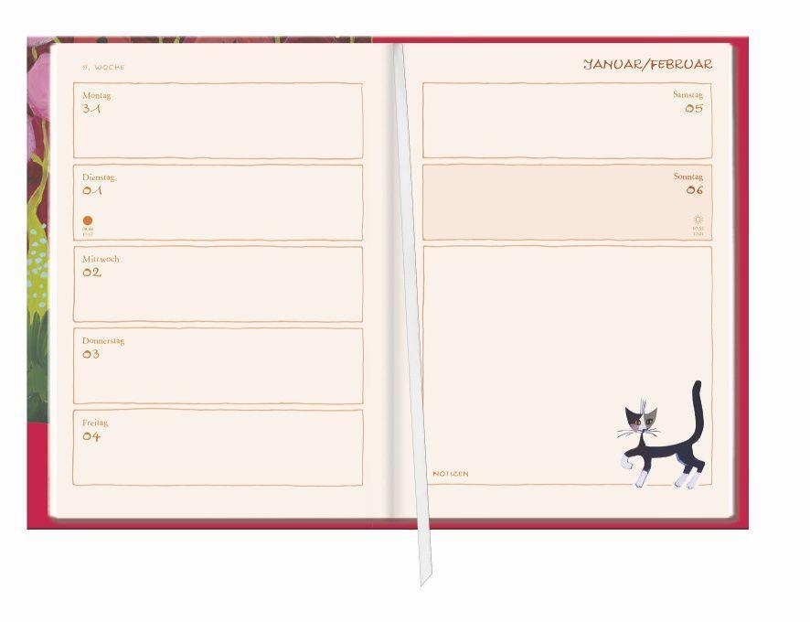 Rosina Wachtmeister Kalenderbuch A6 Kalender 2022