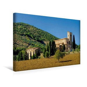 Premium Textil-Leinwand 45 cm x 30 cm quer Abtei Sant?Antimo, Toskana