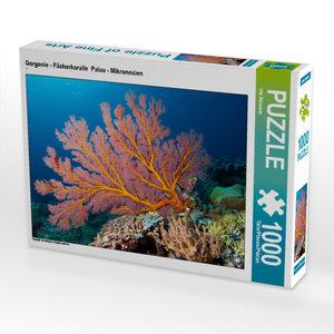 CALVENDO Puzzle Diese F?cherkoralle ergl?ht im Schein des Unterwasserblitz 1000 Teile Puzzle quer