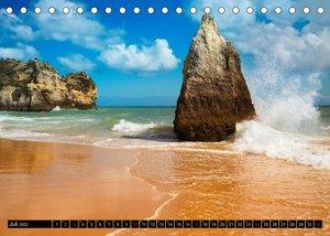 Strände, Felsen und Meer - ALGARVE 2022 (Tischkalender 2022 DIN A5 quer)