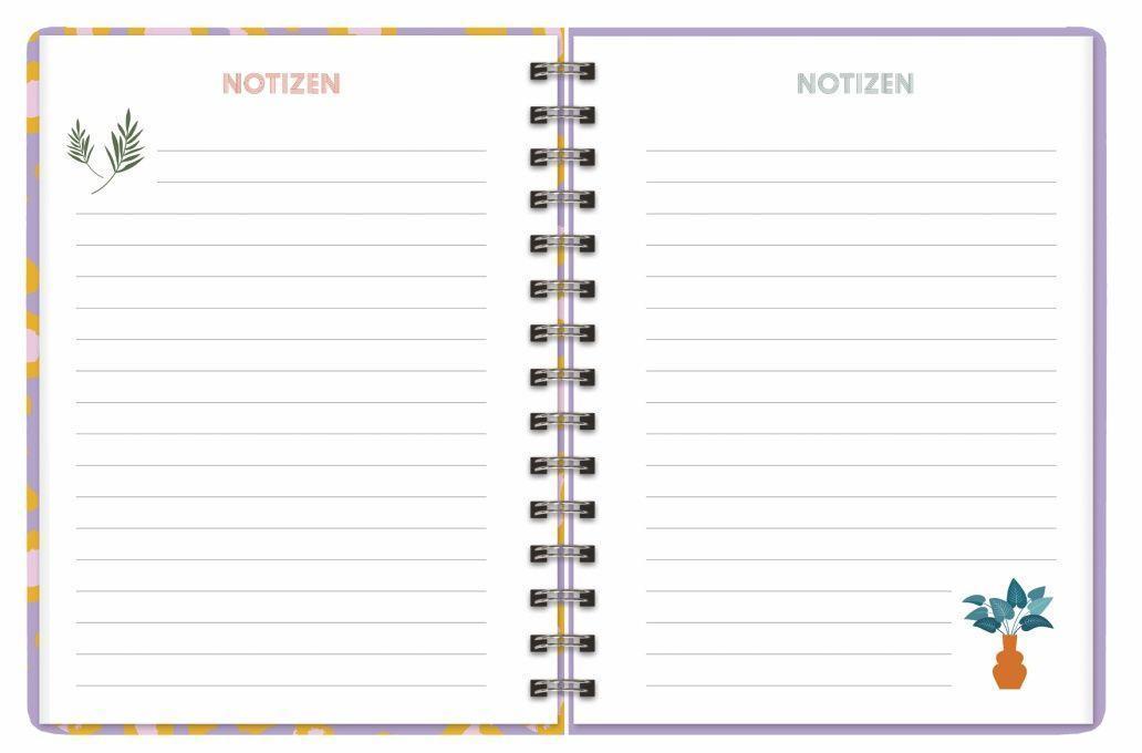 Leopard Spiral-Kalenderbuch A5 Kalender 2022