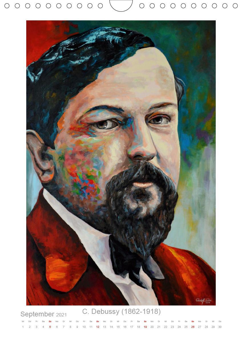 PopArt Bilder berühmter Komponisten (Wandkalender 2021 DIN A4 ho