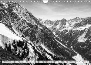 Bergpixels Schwarz-Weiße Gebirgsträume (Wandkalender 2022 DIN A4 quer)
