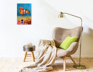 Premium Textil-Leinwand 30 cm x 45 cm hoch Mein Clownfisch Rio
