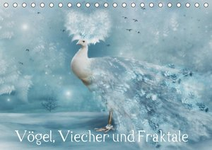 Vögel, Viecher und Fraktale (Tischkalender 2021 DIN A5 quer)