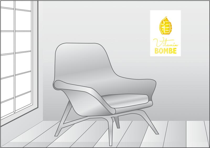 Premium Textil-Leinwand 30 cm x 45 cm hoch Vitamin Bombe - oder