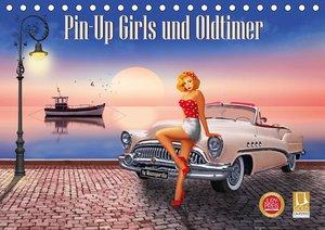 Pin-Up Girls und Oldtimer by Mausopardia (Tischkalender 2021 DIN