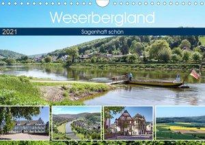 Weserbergland - sagenhaft schön (Wandkalender 2021 DIN A4 quer)