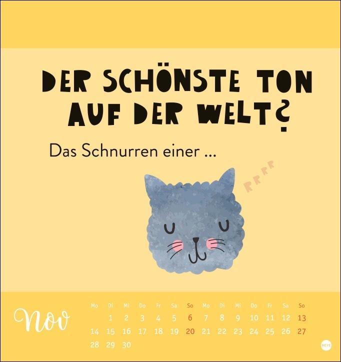 Katzensprüche Postkartenkalender 2022