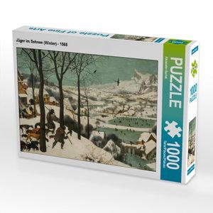 CALVENDO Puzzle Jäger im Schnee (Winter) - 1565 1000 Teile Lege-