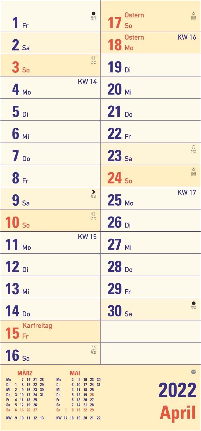 Großdruck Planer Kalender 2022