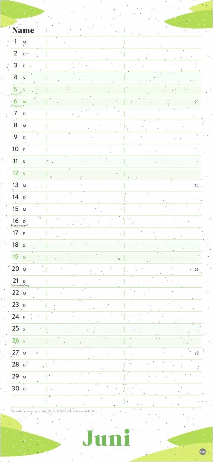 Ecofriendly Planer für zwei Kalender 2022