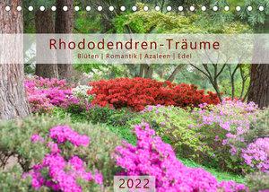 Rhododendren-Träume, Blüten, Romantik, Azaleen, Edel (Tischkalender 2022 DIN A5 quer)