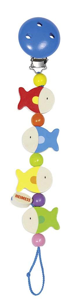 Goki 34610 - Schnullerkette Fische, Holz