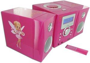 Kompaktanlage - MP3-USB Music Center MCD04 (Feen-Motiv / rosa)