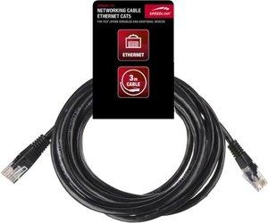 Speedlink SL-4420-BK-3 Ethernet Netzwerk-Patchkabel Cat3 für die
