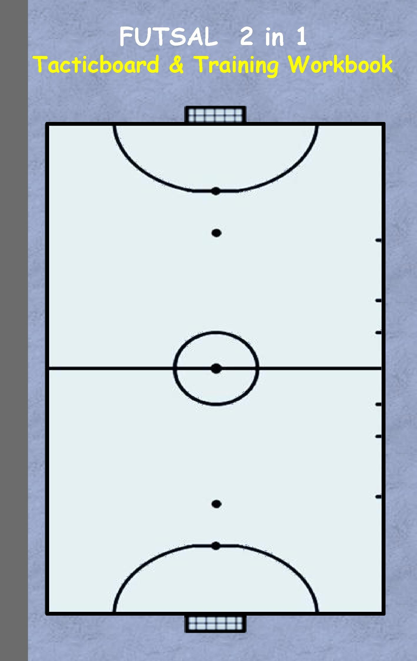Futsal: 2 in 1 note- and tactic book with dry erase panel in com