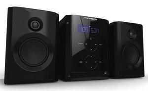 Thomson Kompaktanlage MIC100 Kompaktanlage (CD/MP3-Player, PLL-Radio, USB 2.0), schwarz