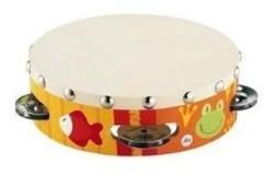 Sevi 81858 - Tamburin, Trommel mit Schellen