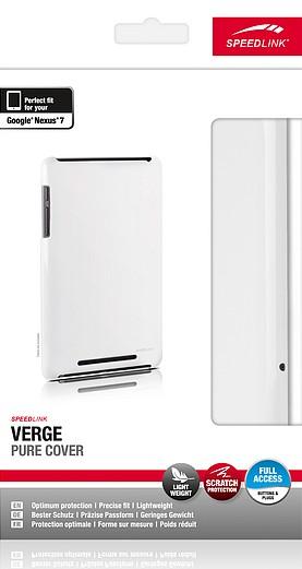 Speedlink SL-7363-WE VERGE Pure Cover, Hartschale für Nexus 7, w