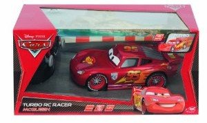 Dickie 203089538 - Cars 2: RC Metallic Lightning McQueen