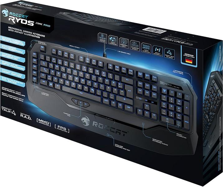 ROCCAT Ryos MK Pro, MX RED, Gaming-Tastatur (deutsches Tastatur-