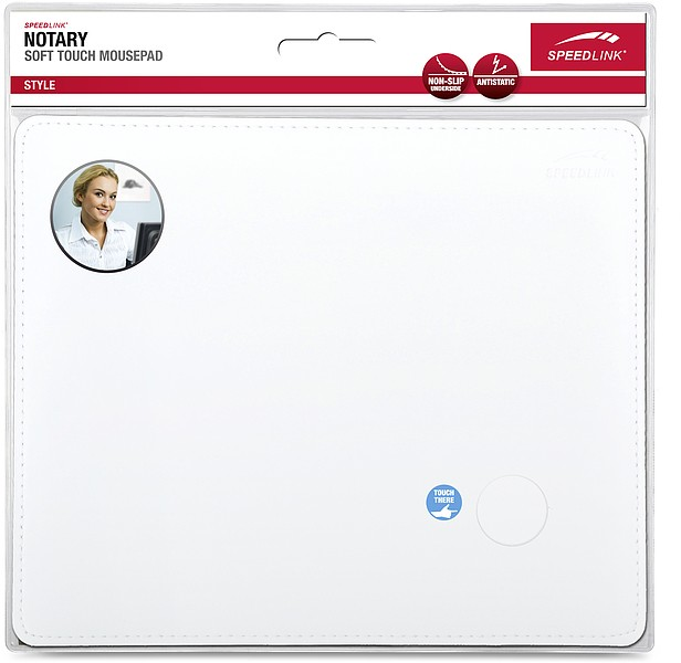 Speedlink SL-6243-LWT NOTARY Soft Touch Mousepad, weiss