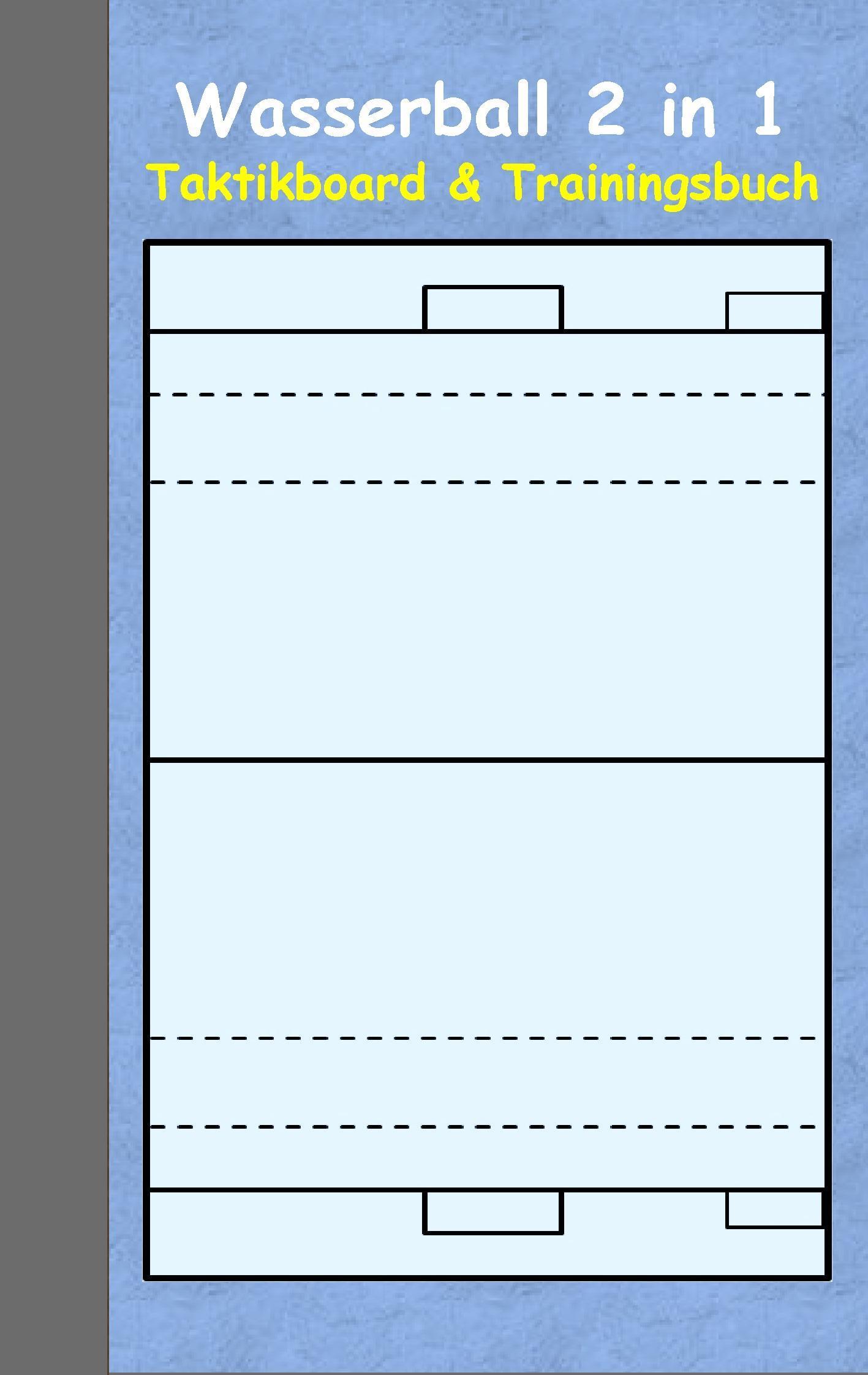 Wasserball: 2 in 1 Notiz- und Taktikblock im Pocketformat (Postk