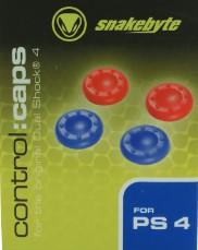 snakebyte - control:caps (2x blau & 2x rot), Analogstick Aufsätz