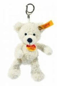 Steiff 111785 - Schlüsselanhänger Lotte Teddybär, weiß, 12cm