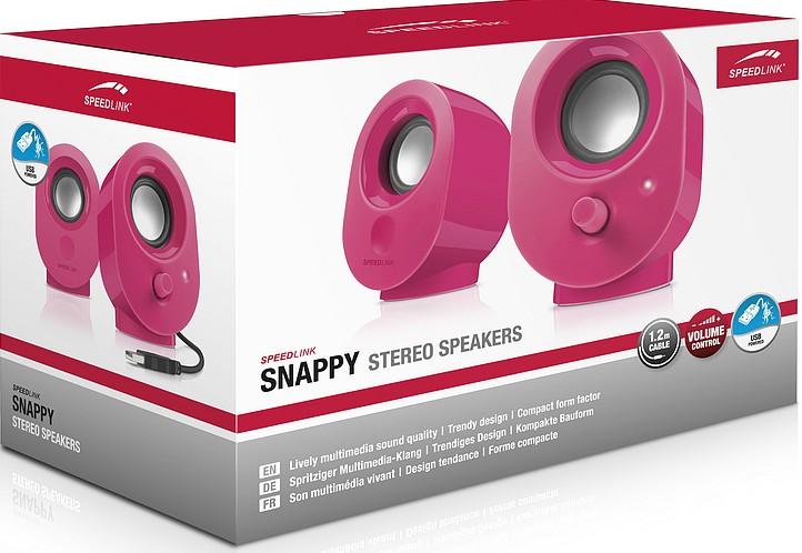 Speedlink SNAPPY Stereo Speakers, Lautsprecher, berry