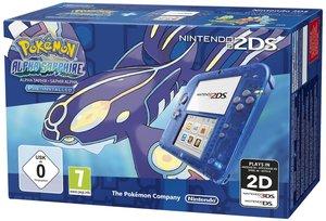 Nintendo 2DS Konsole - Transparent Blau inkl. Pokemon Alpha Saph