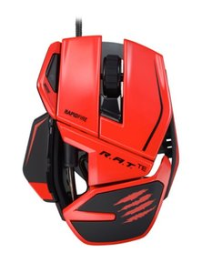 Mad Catz R.A.T.TE (Tournament Edition) Gaming Maus, red