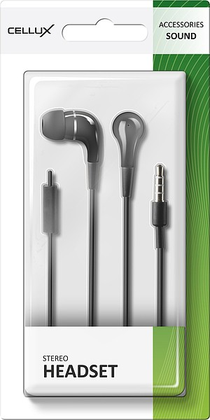 CELLUX Stereo-Headset - in-ear, black