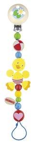 Goki 35180 - Schnullerkette Ente, Holz