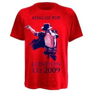 KING OF POP,T-SHIRT,GRÖßE S,ROT