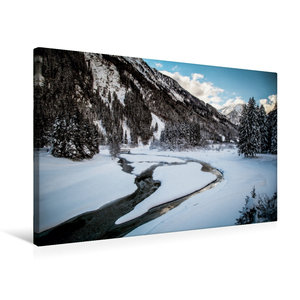 Premium Textil-Leinwand 75 cm x 50 cm quer Stubaital