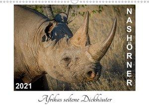 Nashörner - Afrikas seltene Dickhäuter (Wandkalender 2021 DIN A3