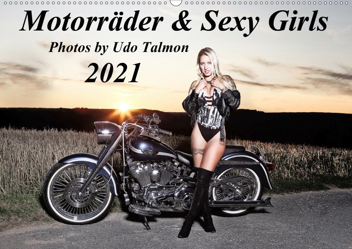 Motorräder & Sexy Girls (Wandkalender 2021 DIN A2 quer)